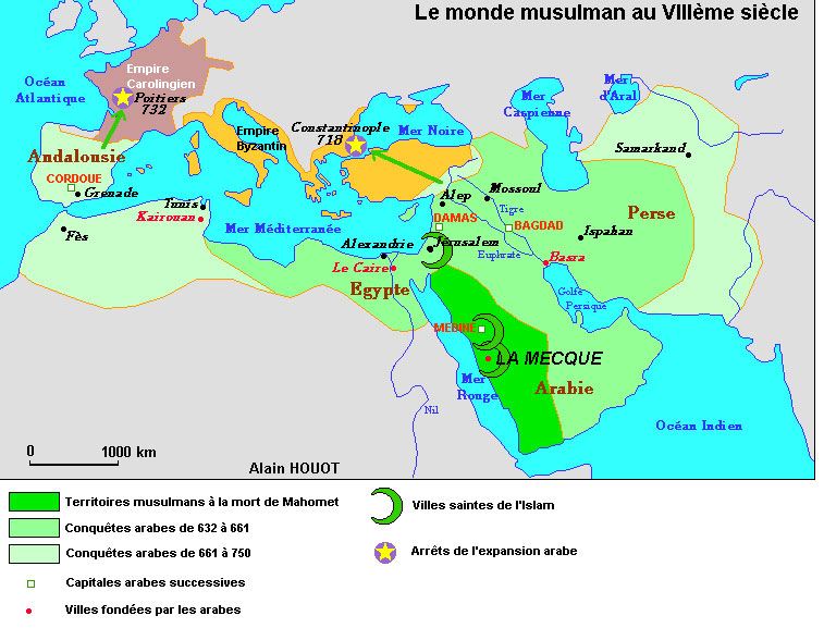 carte europe 8eme siecle